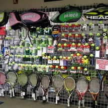Wall of racquets